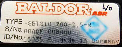 BALDOR ASR S-BTS 10 SBTS10-200-2,5-R Id.15035 + BALDOR 15856A -used/OVP- – Bild 3