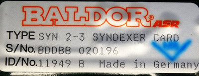BALDOR ASR SYN 2-3 SYNDEXER CARD 10534A Id. 11949 -unused/OVP- – Bild 3
