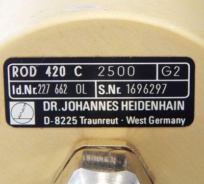 Heidenhain ROD 420 C  2500  Drehgeber / Encoder  - used - – Bild 4