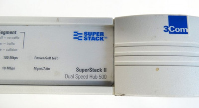 3Com SuperStackII Dual Speed Hub500 3C16610 1661-010-000-8.00 12Port Switch-used – Bild 4