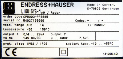 Endress+Hauser Liquisys-M CPM223-PR8005  pH0 - 14 Temp -50 - 150°C -used- – Bild 3