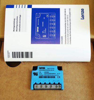Lenze E82ZWBRB 205VDC 0,54A HW: 1A Elektronisher Bremsenschalter -unused/OVP- – Bild 1