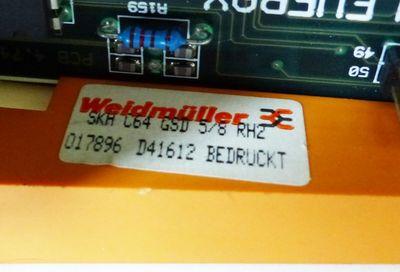 CLEVERAX PCB 4.74.002 V01.04.04 + Weidmüller Card-Holder -used- – Bild 4