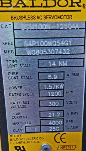 Baldor Servomotor BSM 100N-1250AA//BSM100N1250AA 1,57 KW 1200 RPM - unused - – Bild 3