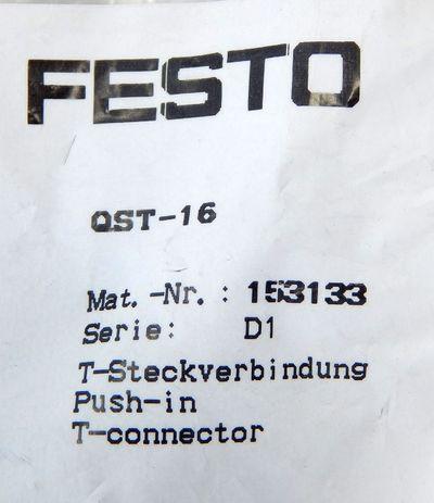 Festo QST-16 Art.Nr.153133  T - Verbinder 16 mm VE= 5 Stück - unused - in OVP – Bild 2