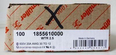 100x Weidmüller WTR 2.5 WTR2.5 1855610000 Klemme -unused/OVP- – Bild 2