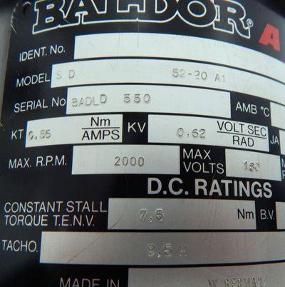 Baldor ASR Servomotor SD 52-20 A1 // SD5220A1 - used - – Bild 4
