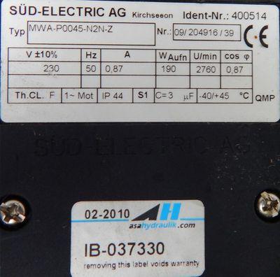 asahydraulik Luft/Öl Kühler TT06 IB-037330 0,14KW 26bar 230V - unused - – Bild 4