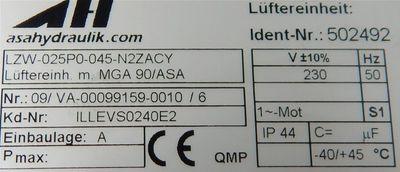 asahydraulik Luft/Öl Kühler TT06 IB-037330 0,14KW 26bar 230V - unused - – Bild 5