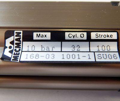 AB Rexroth Mecman 168-03 1001-1 Pneum. Zylinder  32mm Durchm. - unused - in OVP – Bild 2