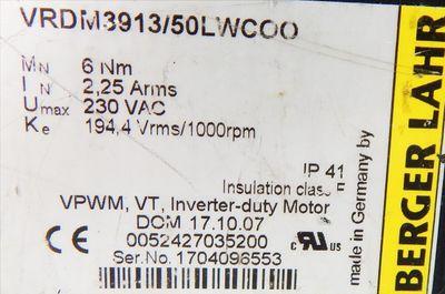 Berger Lahr 3-Phasen-Schrittmotor VRDM3913/50LWC00 / Steckanschluß defekt- used- – Bild 3