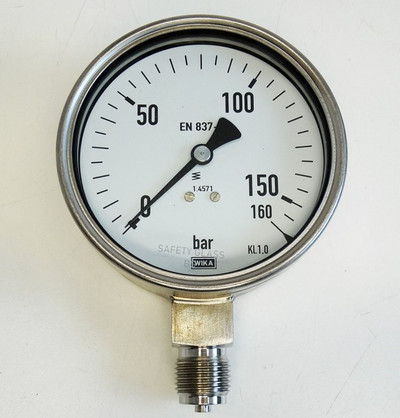 WIKA NG/Dia 232.50.100  EN 837-1  160 bar G1/2B Manometer -unused/OVP- – Bild 2