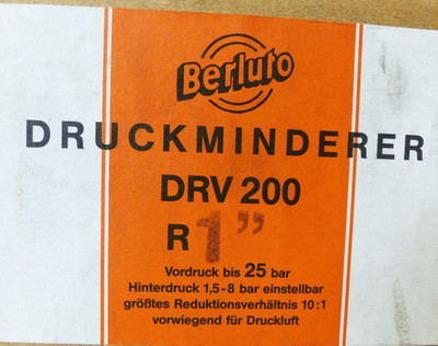 BERLUTO DRV 200 R1'' Druckminderer ohne Manometer -unused/OVP- – Bild 5