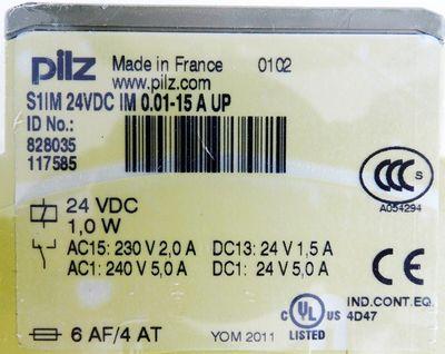 Pilz S1IM 24VDC IM 0.01-15 A UP  828035  Überwachungsrelais -unused- – Bild 3