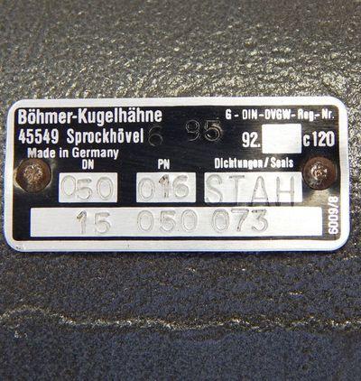 Böhmer Kugelhahn FKKA50-1-U  DN 50 Flansch PN16 Stahl - unused - – Bild 2