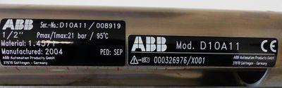 """ABB D10A11 D10 A11 1/2""""-27-G-10 Wasser Glaskonus-Durchflussmesser -unused- – Bild 2"""