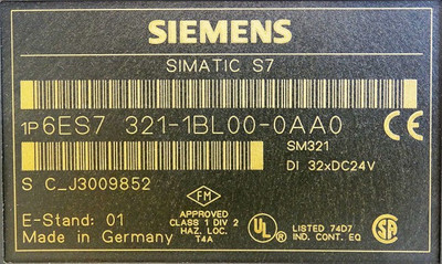 Siemens Simatic S7  6ES7 321-1BL00-0AA0  E-Stand: 01 + Connector  -used- – Bild 3
