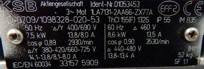 KSB Inline-Thermalölpumpe Etaline SY 065-200/752 SY8 HN 48m/QN 30m³/h -unused-  – Bild 2