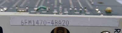 Siemens WF470 6FM1470-4BA20 6FM1 470-4BA20 E: A3 Anzeigebaugruppe -used- – Bild 3