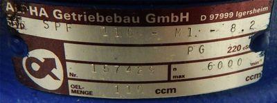 Alpha Planetengetriebe SPF 110-M01-8.2-00/110S02  - unused/OVP - – Bild 2