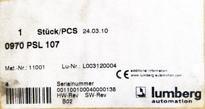 Lumberg 0970 PSL 107 0970PSL107 Profibus-DP 8x24VDC IN 4x24VDC/2A OUT -used/OVP- – Bild 3