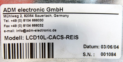 "ADM electronic LCD10L-CACS-REIS 10"" Zoll Industrie LCD Monitor -used- – Bild 3"