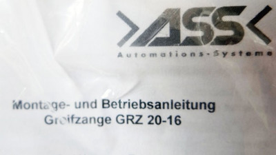 ASS Greifzange GRZ 20-16   1-415-30-00 -unused/OVP- – Bild 2