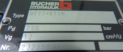 Bucher Innenzahnradpumpe OT33 -012R  Hydraulikpumpe - unused - – Bild 3