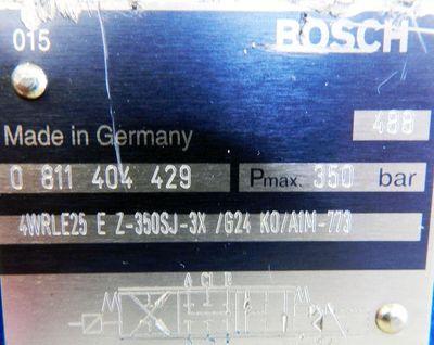 Bosch 4WRPEH 6 C3B12L  0811 404 608 + 4WRLE 25 EZ-350SJ  0811 404 429 -used- – Bild 3