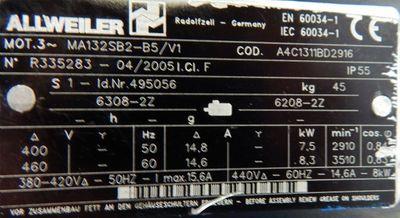 Allweiler Spiralgehäuse Kreiselpumpe NBT2/25-200 U5A-W4-38/300 - used - – Bild 3