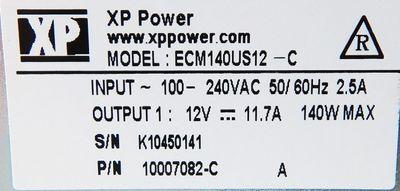 XP Power ECM140US12-C 12V-11,7A Netzteil/power supply -unused- – Bild 3