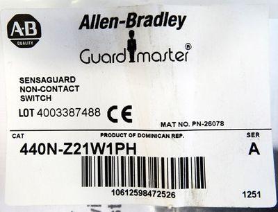 Allen Bradley Sensaguard 440N-Z21W1PH 4003387488 Ser.A Sicherh. schalter -unused – Bild 3