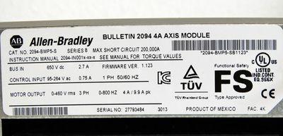 Allen Bradley Kinetix 6000 2094-BMP5-S Ser B V1.123 2094 4A Axis Modul -used/OVP – Bild 3