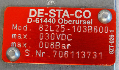 DESTACO 82L25-103B800 8 bar Pneumatik Kraftspanner -used- – Bild 3