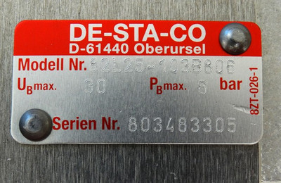 DESTACO 82L25-103B806 8 bar Pneumatik Kraftspanner Power Clamp -unused/OVP- – Bild 4