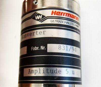 Herrmann Ultraschaltechnik 35/1000 S 35 KHz  Amplitude 5u Konverter -used- – Bild 3