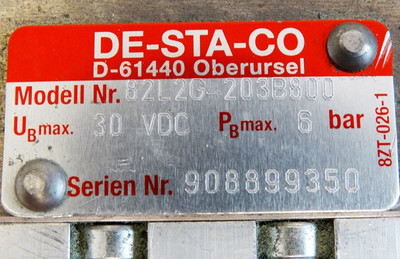 DESTACO 82L2G-203B800  30 VDC 6 bar Kraftspanner Power Clamps -used- – Bild 3