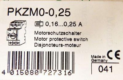 Klöckner Moeller PKZM0-0,25  0,16-0,25A Motorschutzschalter -unused/OVP- – Bild 3