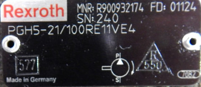 Bosch Rexroth Zahnradpumpen PGH5-21/100RE11VE4 + PGH4-21/063RR07VU2  - unused - – Bild 2