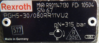 Bosch Rexroth Zahnradpumpen PGH5-30/125RE11VE4 + PGH5-30/080RR11VU2 - unused - – Bild 3