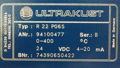 BARTEC R 22 P065 R22P065 DC 24V 94100477 Ser B Temp.fühler mit Linsenoptik -used – Bild 3
