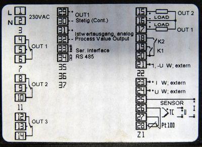 D. Krieger TC 303 TC303 R1300-3-KR2-1 230VAC Tempraturregler -unused- – Bild 5