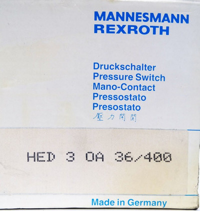 Mannesmann Rexroth HED 3 OA 36/400  HED3OA36/400 Druckschalter -unused/OVP- – Bild 3