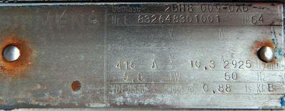 Siemens  Seitenkanalverdichter  ELMO-G 2BH8 009-OXB  5,5 KW  2925 /min -  used - – Bild 2