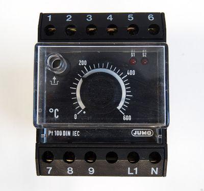 "JUMO 701130/0251-001-02/205,245 STW""O"" 0-600 C 230VAC Temperaturbegrenzer -used- – Bild 2"