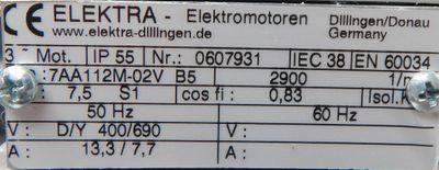 Allweiler Schraubenspindelpumpe TRILUB 210R 40D8.25-V-W118  4,1KW 5bar -unused-  – Bild 4