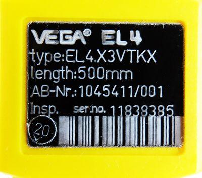 VEGA VEGA EL4 EL4.X3VTKX 500mm Nr. 1045411/001 Füllstandssensor -used- – Bild 3