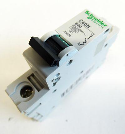27x Schneider Electric C60N B20 230/400V 1 Pol. Leitungsschutzschalter -unused- – Bild 3