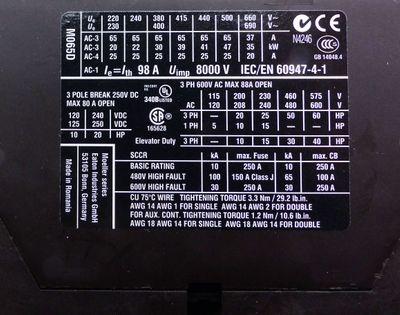 Eaton DILM65 XTCE065D00F 230V50Hz, 240V60Hz Schütz 30kW 400VAC -unused/OVP- – Bild 4