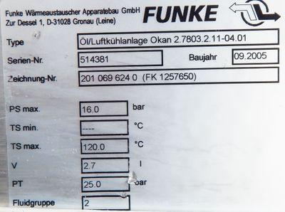 Funke ÖL/Luft Kühlanlage OKAN 2.7803.2.11.-04.-01 Wärmetauscher-Luft - unused - – Bild 4